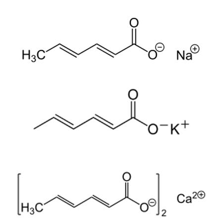 acido sorbico formulas cosmeticas